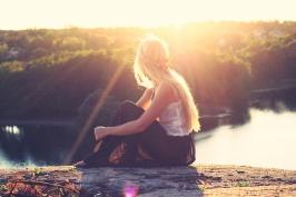 girl and a lake